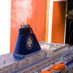 Der Schornstein vom Schiffsmodell funktioniert