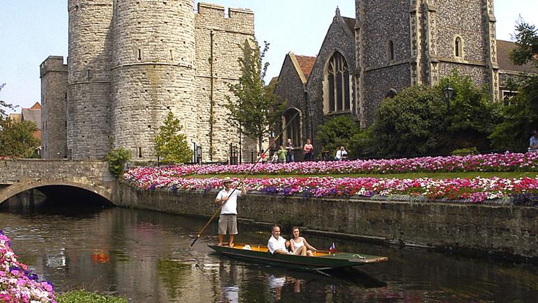 Gondel fahren in Canterbury