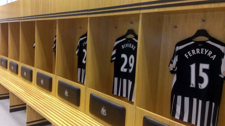Umkleide vom Club Newcastle United
