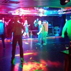 Auf der Bühne im Columbus Club
