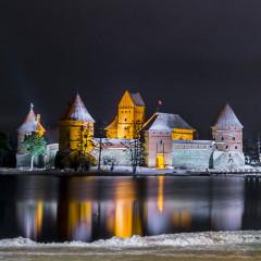 Inselburg Trakai zu Weihnachten © Lithuania Travel