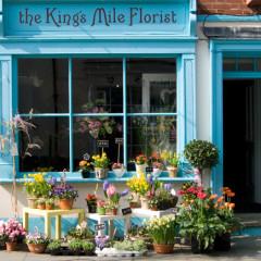 Blumenladen in Canterbury