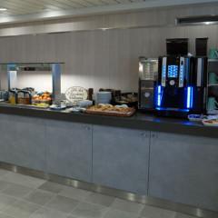 Snacks und Getränke in der Premium Lounge
