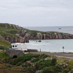 Mit dem Wohnmobil an Schottlands Nordkueste bei Rispond