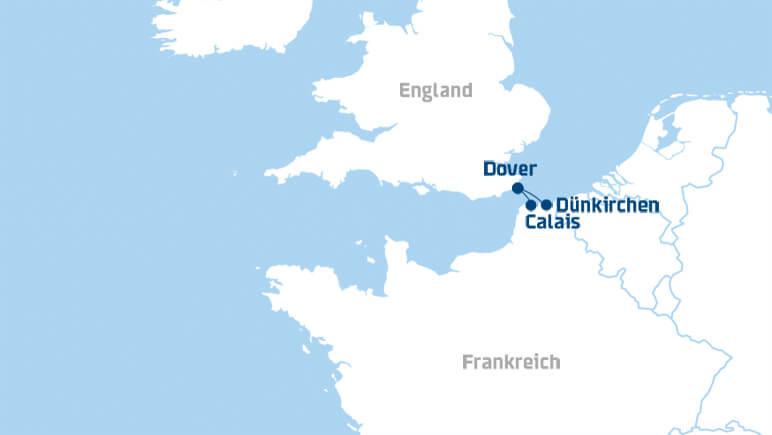 Ärmelkanal Karte_Credits DFDS