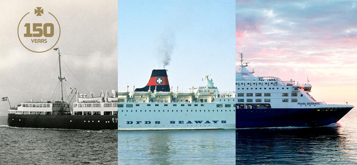 DFDS Passagierschiff im Wandel der Zeit