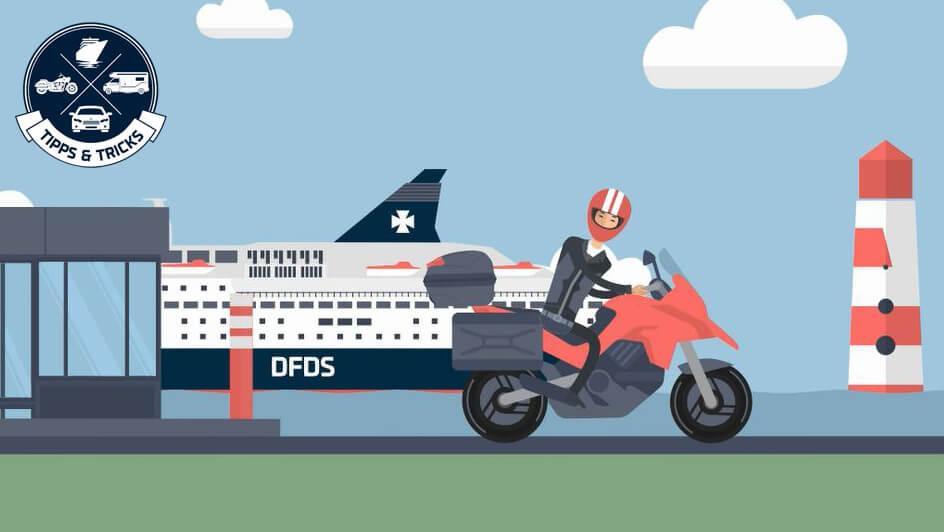 Motorrad verzurren auf der Fähre