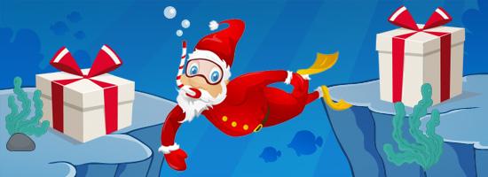 Weihnachtliche Unterwasserwelt