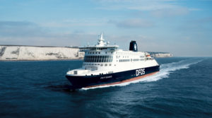 DFDS Fähre über den Ärmelkanal