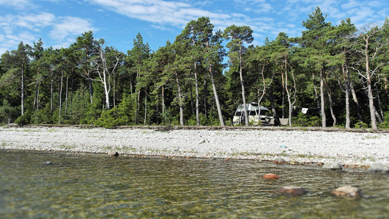 Camping am Ostseestrand © DFDS