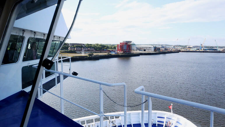 Aussicht von der Brücke © DFDS