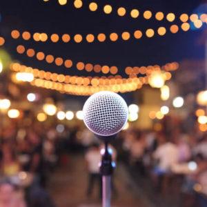 Mikrofon - Blick von der Bühne