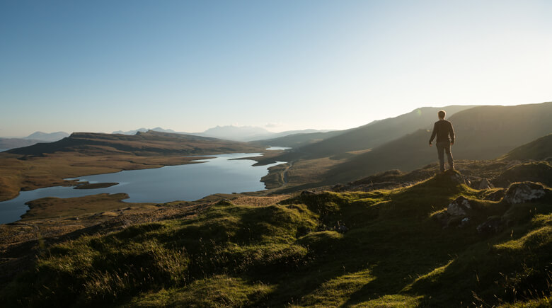 Aussicht auf Schottlands Berge