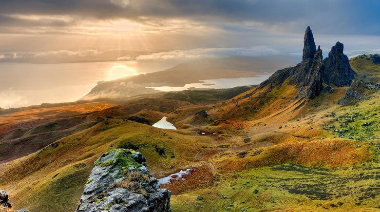 Schottische Landschaft am Morgen