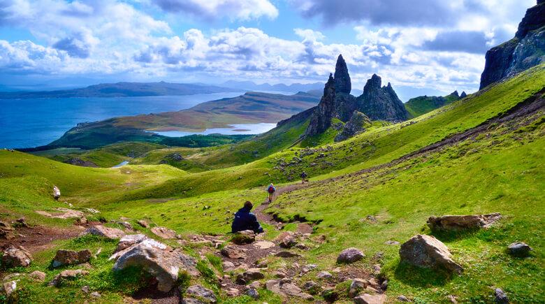 Wandern in den Bergen Schottlands