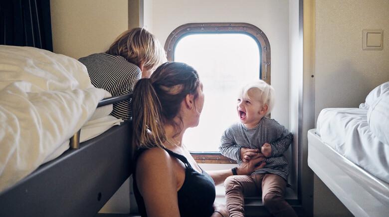 Mit der Familie an Bord von DFDS