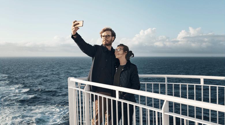 Selfie an Bord der DFDS Fähre