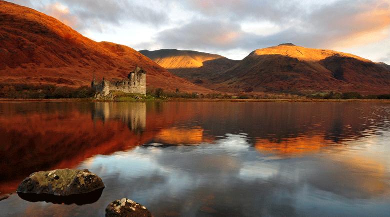 Eilean Donan Castle im Herbst copyright Rachel Slater