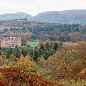 Schottische Burg im Hersbt
