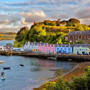 Schottland im Herbst an der Küste