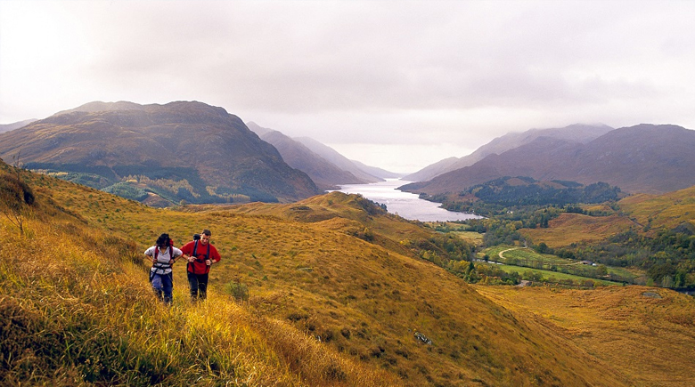 Schottland im Herbst am Loch Lomond