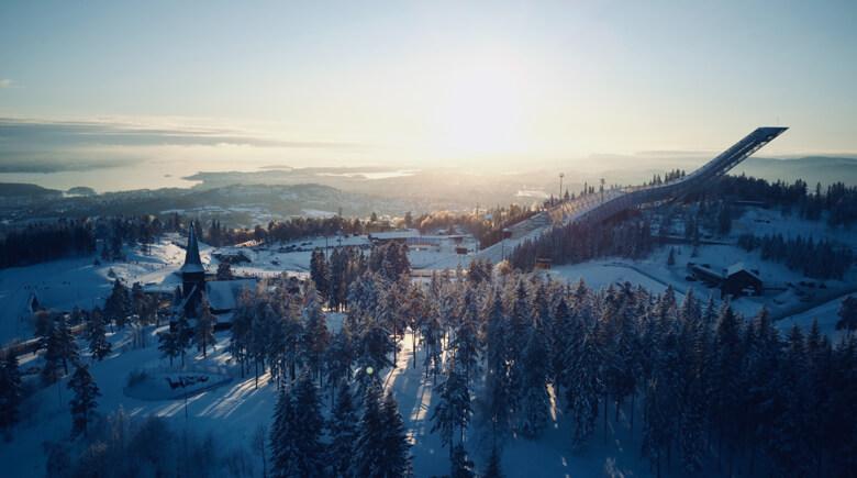 Winteridylle am Holmenkollen in Oslo