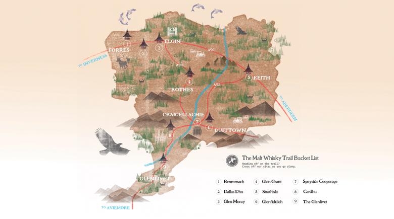 Whisky Trail Karte