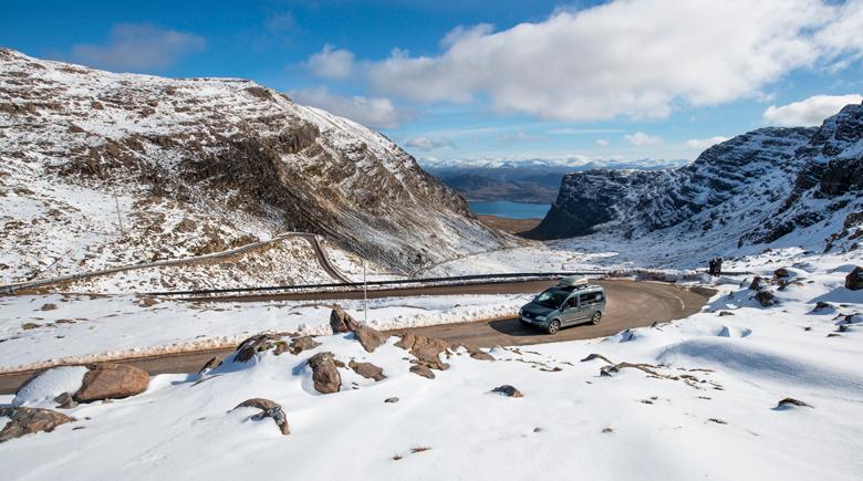 Ausfahrt im Winter in Schottland co Visit Scotland