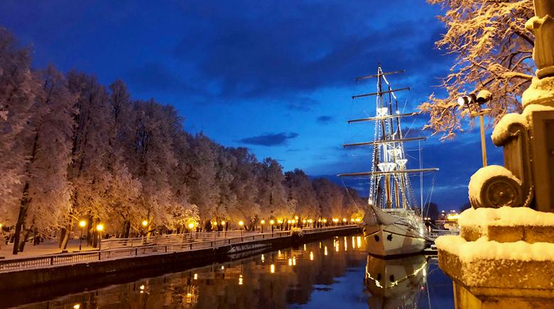 Klaipeda im Winter