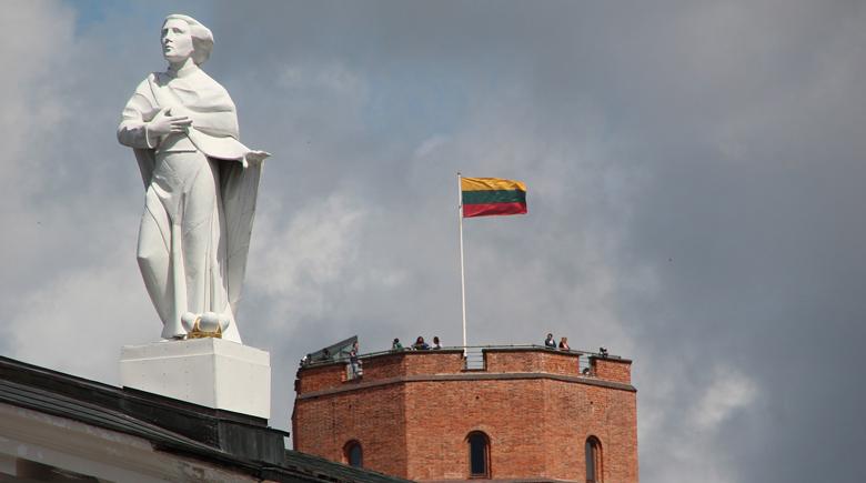 Litauen Flagge in Vilnius