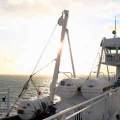An Deck der KING SEAWAYS