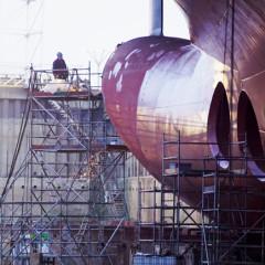 Bugarbeiten in der Werft