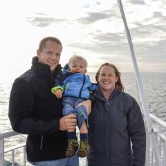 An Bord der DFDS Fähre