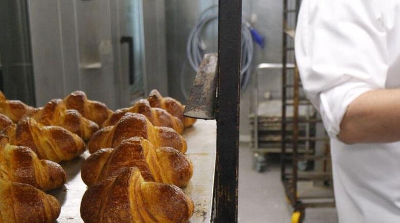 Croissants in der Schiffsbäckerei