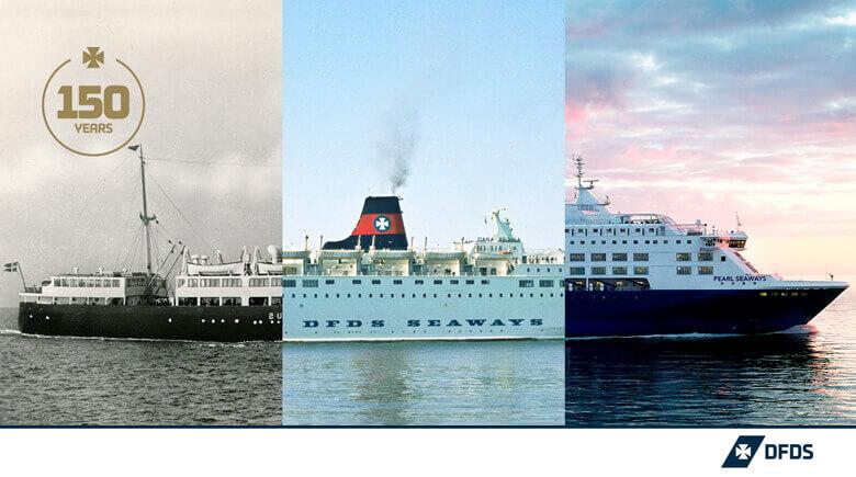 Passagierschiffe von DFDS damals und heute