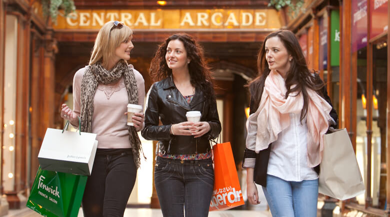 Newcastle Shopping der Central Arcade