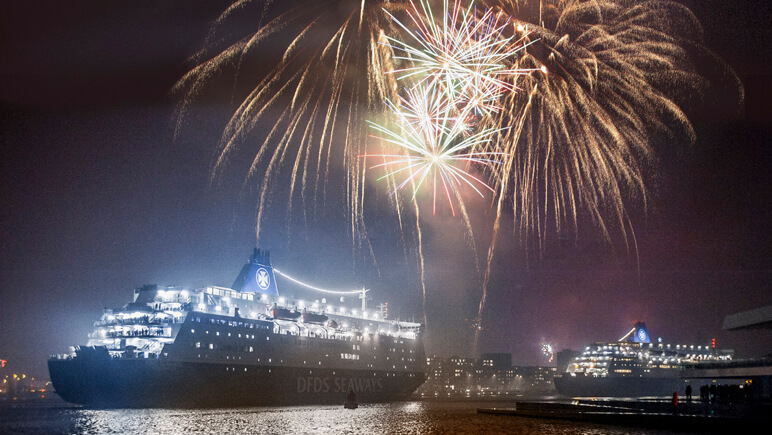 Silvester in Amsterdam © DFDS