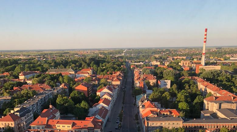 Aussicht auf Klaipeda vom Viva-la-vita