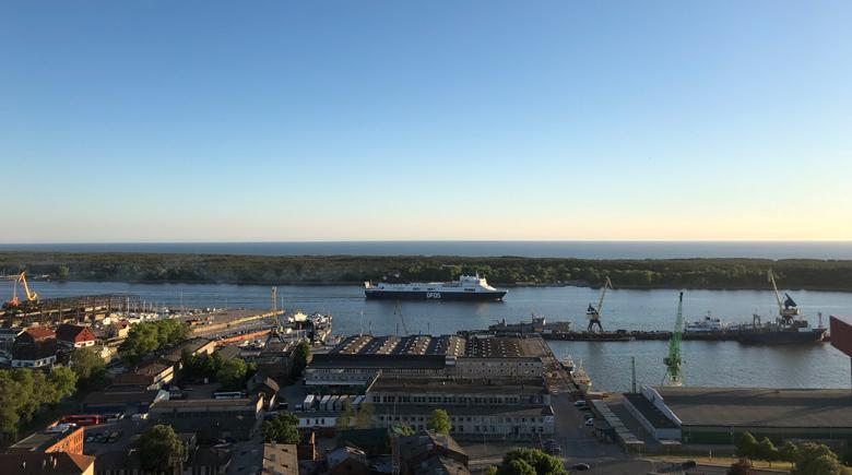 DFDS Fähre in Klaipeda