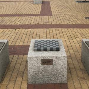 öffentliches Schachspiel in Klaipeda