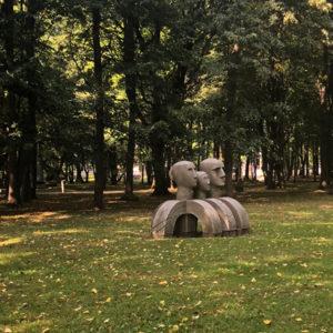Klaipeda Skulpturenpark - Drei Köpfe