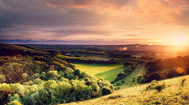 Herbstliche Landschaft in England