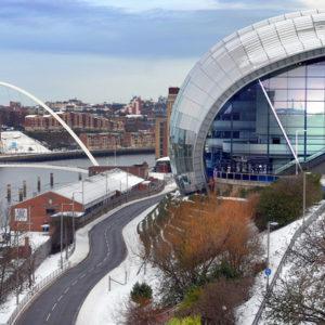 Winterkulisse in Newcastle