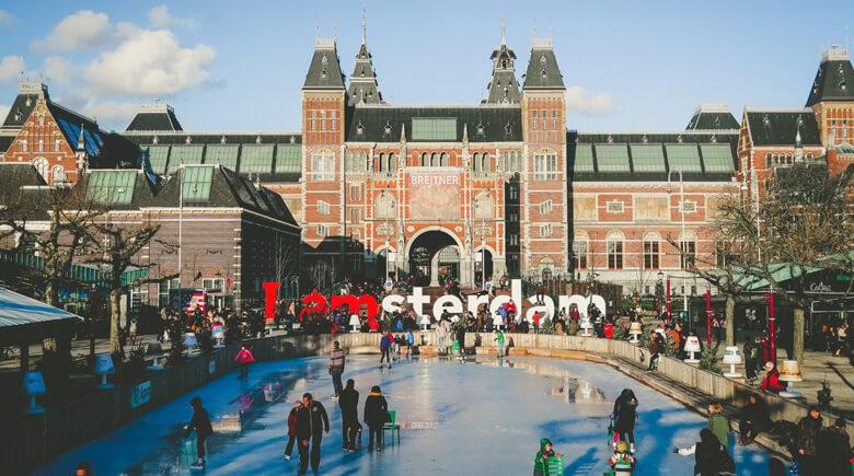 Amsterdam Eislaufen