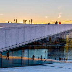 Oslo Opernhaus im Winter