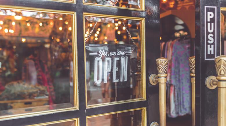 Geschäft ist offen
