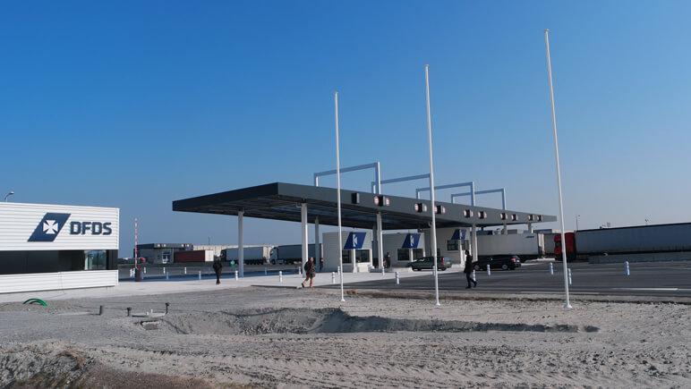 Check-in am Hafen in Dünkirchen