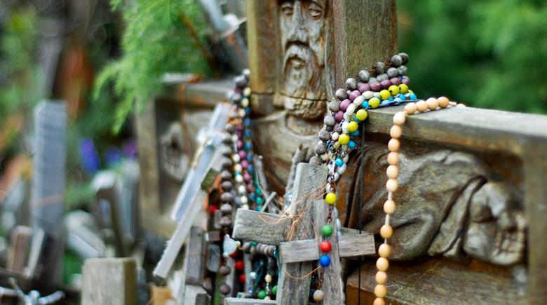 Religiöser Ort Berg der Kreuze in Litauen