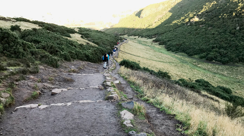 Wandern zum Arthur's Seat