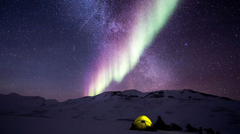 Nordlichter über Nordnorwegen